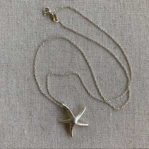 925 Sterling Silver Starfish Pendant and Chain